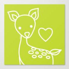 Green Deer Canvas Print