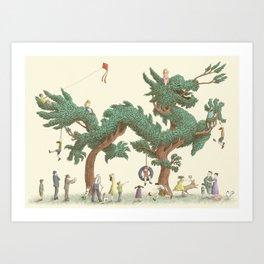 The Dragon Tree Art Print