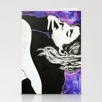 kurt cobain Stationery Cards featuring Kurt Cobain by Lucy Ford