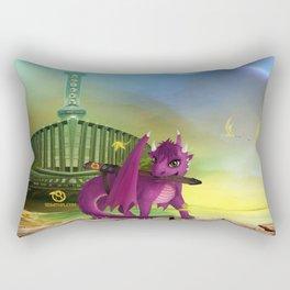 Dragonlings of Valdier: Jade Rectangular Pillow