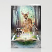roald dahl Stationery Cards featuring Believe In Magic • (Bambi Forest Friends Come to Life) by soaring anchor designs