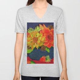 Sunflower Still Life Unisex V-Neck