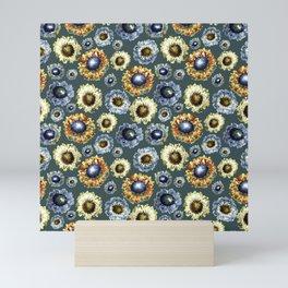 Scabiosa floral pattern 1 Mini Art Print