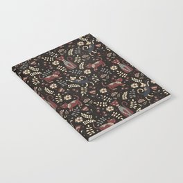 Cute cats. Brown pattern Notebook