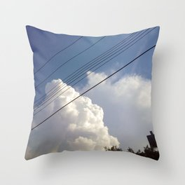 Stormy Communications Throw Pillow