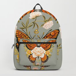Butterfly Peonies Tattoo Backpack