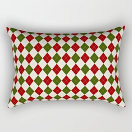 Christmas Argyle Rectangular Pillow