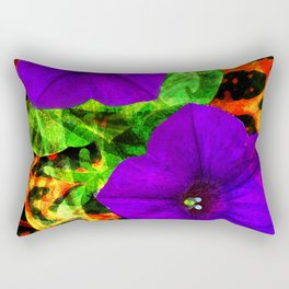 Violet Smiles Rectangular Pillow