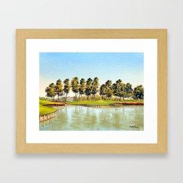 Sawgrass TPC Golf Course 17th Hole Framed Art Print