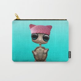 Cute Baby Turtle Wearing Pussy Hat Carry-All Pouch