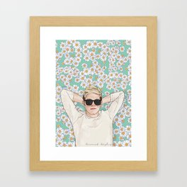Niall daisies field Framed Art Print