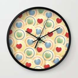 Hearts and circles Wall Clock