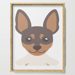Huge Toy Fox Terrier Serving Tray