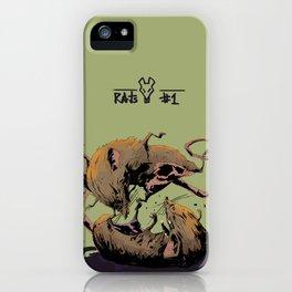 rat fight iPhone Case