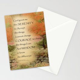 Serenity Prayer Autumn Harmony Stationery Cards