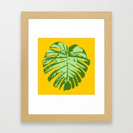 Cheese Plant Framed Art Print