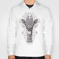 calligraphy Hoodies featuring Giraffe by BIOWORKZ