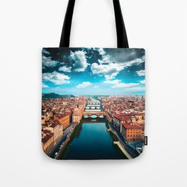 ponte vecchio in florence Tote Bag