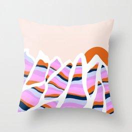 peak to peak: stripes Throw Pillow