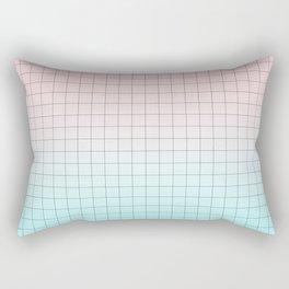 Millennial Pink and Light Blue Geometry Rectangular Pillow