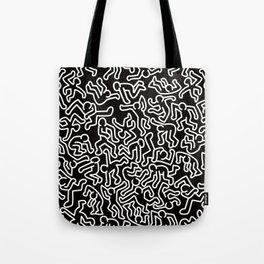 Homage to Keith Haring Black Tote Bag
