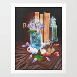 Books and potions Art Print