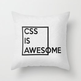CSS is Awesome Throw Pillow