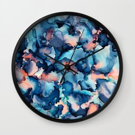 Alcohol Ink Painting 1 Wall Clock