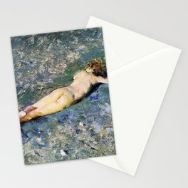 Nude On The Beach At Portici - Digital Remastered Edition Stationery Cards