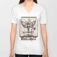 science V-neck T-shirts featuring Science by Ulla Thynell