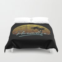 paradise Duvet Covers featuring Paradise by Anthony Troester