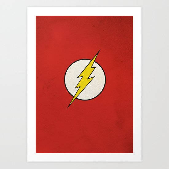 Flash Minimalist  Art Print