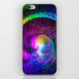 Spiral tie dye light painting iPhone Skin