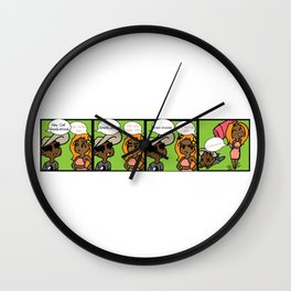Knock-Knock Wall Clock