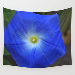 Blue, Heavenly Blue morning glory Wall Tapestry