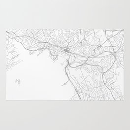 Oslo, Norway Minimalist Map Rug
