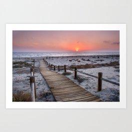 """""""To the beach...""""Cabo de Gata"""". Art Print"""