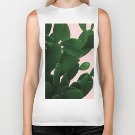 Cactus On Pink Biker Tank