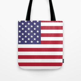 USA flag - Hi Def Authentic color & scale image Tote Bag