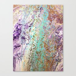 Teal and Amythest Canvas Print