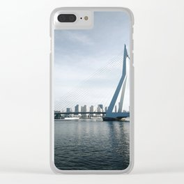 Erasmunbrug bridge Clear iPhone Case