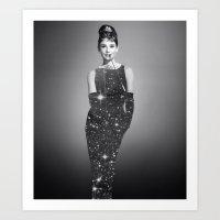 hepburn Art Prints featuring Audrey Hepburn by Laure.B
