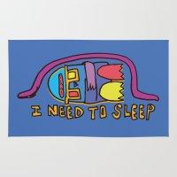 sleep Area & Throw Rugs featuring sleep by PINT GRAPHICS