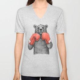 Bear Boxer Unisex V-Neck