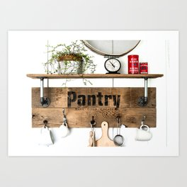 Pantry Shelf Art Print