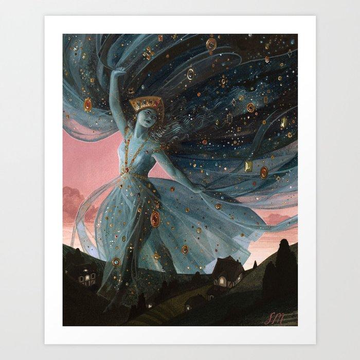 The Veil of Night Kunstdrucke