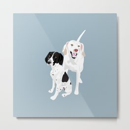 Penny and Cassie Metal Print
