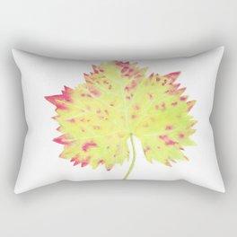 Watercolor Vine Leaf Rectangular Pillow