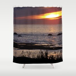 Surreal Seaside Sunset Shower Curtain