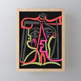 Picasso - Neon Colors Framed Mini Art Print